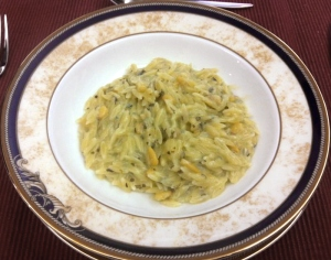 Orzo in Blue Cheese Pesto Sauce