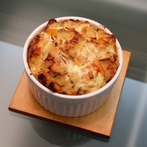 Crab and Cheese Soufflé